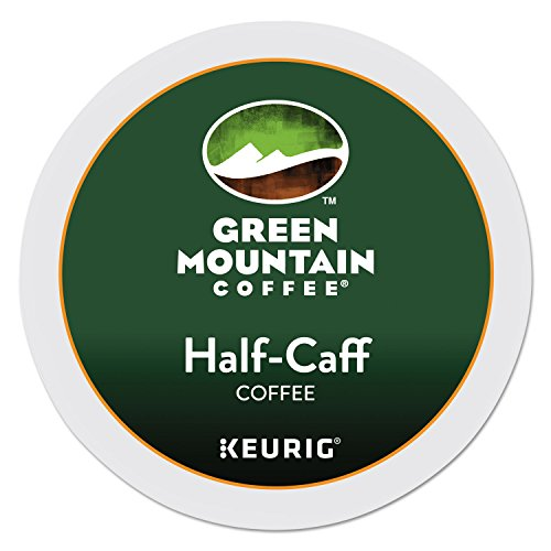Keurig, Green Mountain Coffee, Half-Caff, 24 K-Cup Packs for Keurig Brewing System (Packaging May Vary)