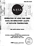 Generation of long time creep data on refractory alloys at elevated temperatures Monthly report, 17 Mar. - 14 Dec. 1967 (English Edition)