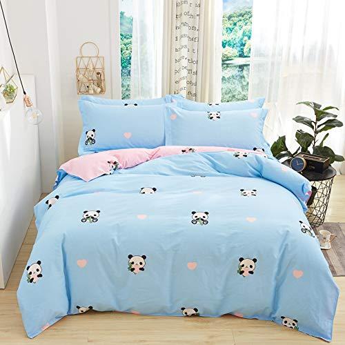 yaonuli Baumwolle vierteilige Baumwolle Köper Bettwäsche Doppelbett mit Lieferungen rot 1,8 m Bett