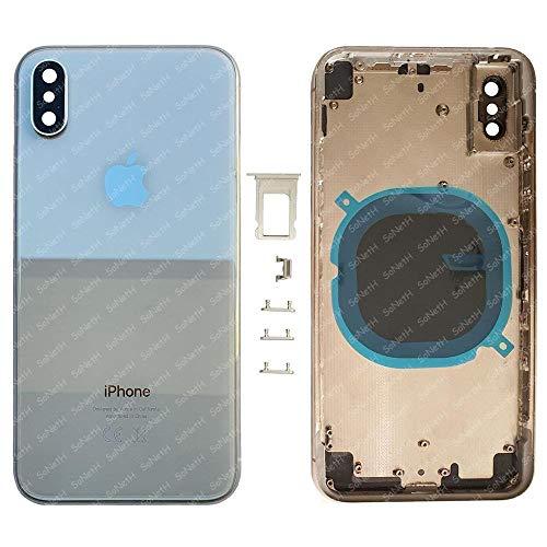 Telaio SCOCCA Posteriore Vetro iPhone X A1865 A1901 A1902 Bianco