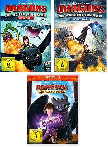 Die Reiter von Berk (Staffel 1) & Die Wächter von Berk (Staffel 2) & Auf zu neuen Ufern (Staffel 3) (12 DVDs)