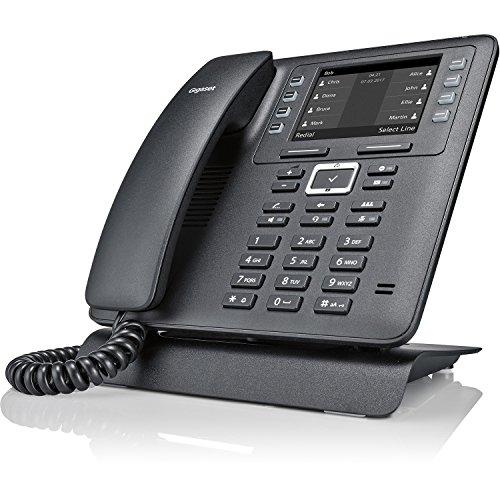 Gigaset Pro Maxwell 2 funktionales Tischtelefon für die Geschäftskommunikation - professionelles VoIP-Telefon mit intuitiver Menüführung und Full HD Audioqualität - Business Phone, schwarz