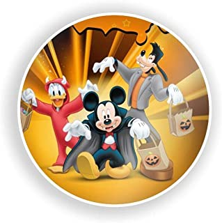 DISNEY COLLECTION Coaster Halloween Disney Orange Donald Duck Mickey Mouse Goofy Fashion Cute Drink Ceramic Smooth Cork Base Durable Coaster Suitable for All Cups
