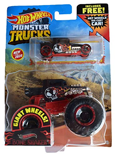Hot Wheels Monster Trucks 1:64 Scale Bone Shaker, Includes Hot Wheels Die Cast Car