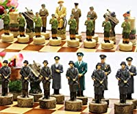 チェスセット セッションボード付きチェスのセットチェス盤とチェス板のセットチェスクラシックの手作り、新しいチェスとチェッカーチェリー手動加工サイズ38 cm x 38cm SLTHX (Color : 1)