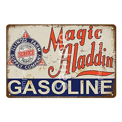 ayingzhenxiao Vintage Gulf Gasolina Metal Cartel de Chapa Fuera de borda Aceite de Motor Cartel de Metal Tienda Garaje Decoración de Pared Cartel de Metal 20x30cm YD12000L
