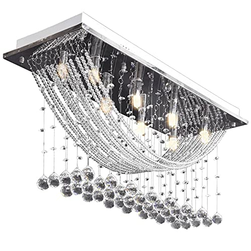 Plafones de Sala de Estar de Cristal LED Lámpara de Techo Decoración...