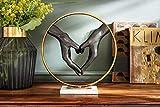 Kare Design Dekoobjekt Elements Heart, modernes Deko Objekt, Dekoration, Geschenkidee, Accessoires, Dekofigur Hände (H/B/T) 33x31x11cm - 4