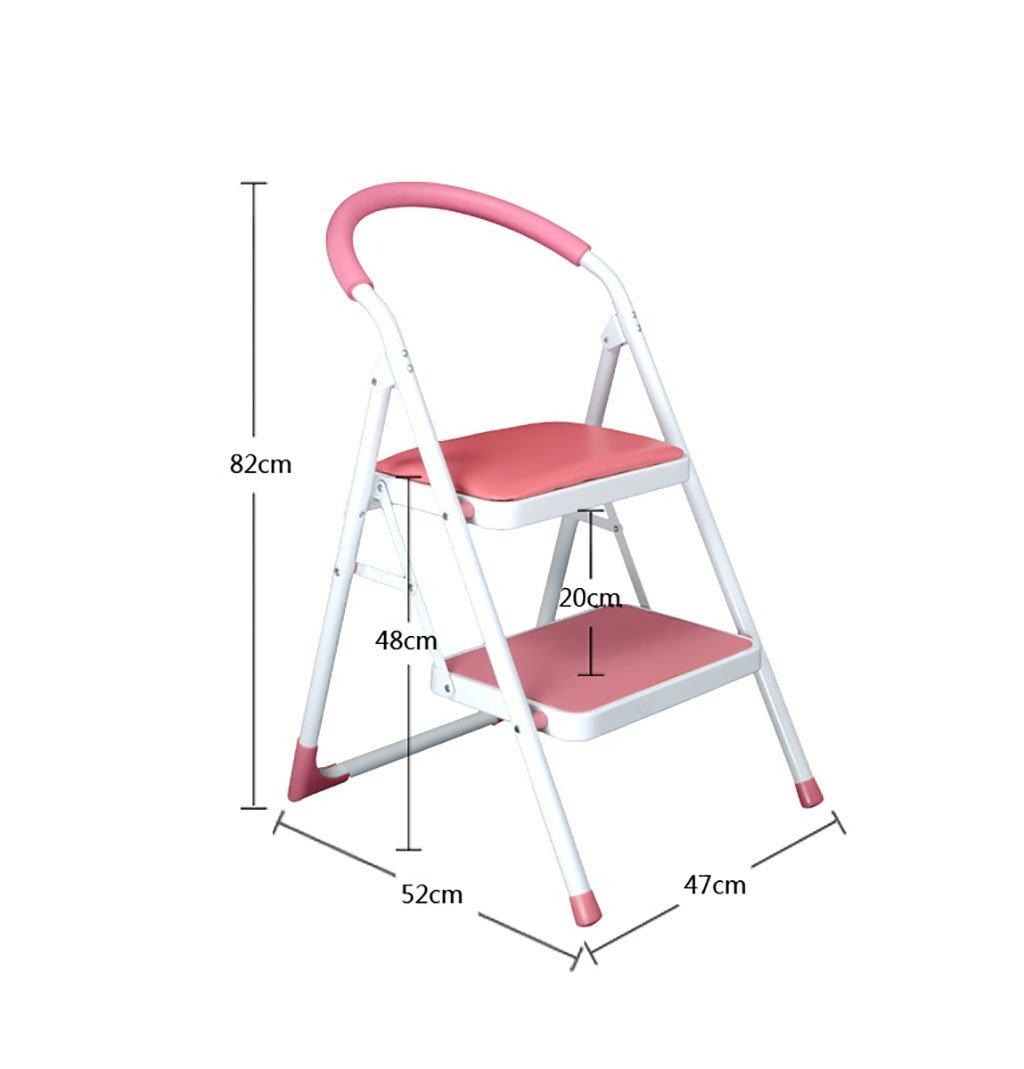 Escalera doméstica Asiento de la silla escalera plegable escalera de la casa escalón para expandir taburete de doble función multifunción, silla de escalera plegable (47 * 52 * 82cm) (Color : 2) : Amazon.es: Hogar