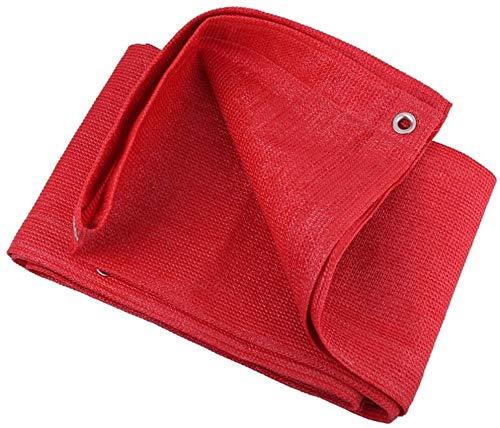 Lanrui 2mX4m Sombra Net Red Red paño de la Tela con Ojales Sun Net Malla Sombra Bloqueador Solar Sombra de Vela en la Cobertura Vegetal for el Invernadero Flores/Patio/Césped 1,8m x 3m