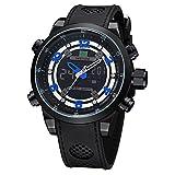 CursOnline® Elegante Reloj Hombre Sport Crono Weide WH-3315Nuevo Modelo de esclusiva de NOI, Dual Pantalla LED Watch, Novedad, Precioso. Turquesa