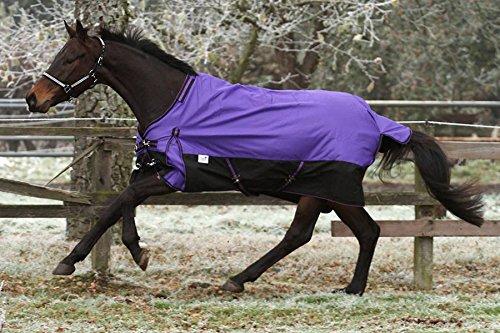 1200 Denier Lila Fleece Lining ohne Füllung 145 155 mit o ohne Hals Winterdecke Outdoordecke Regendecke Tysons (ohne Hals, 155)