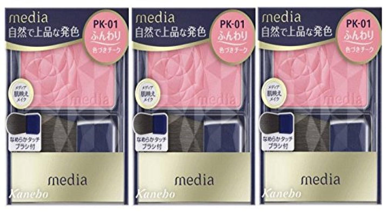 広告ピアノを弾くなんでも【3個セット】カネボウメディア(media) ブライトアップチークN PK-01