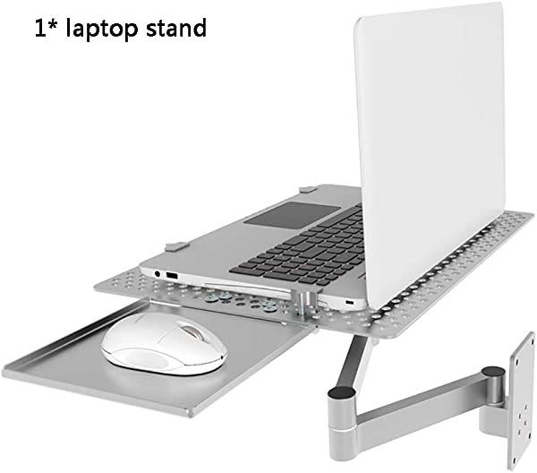 TQZY Laptop Wall Bracket Wall Mount Multi Function Heat Sink Rack Lazy Rotating Stretch Folding With Mouse Drag