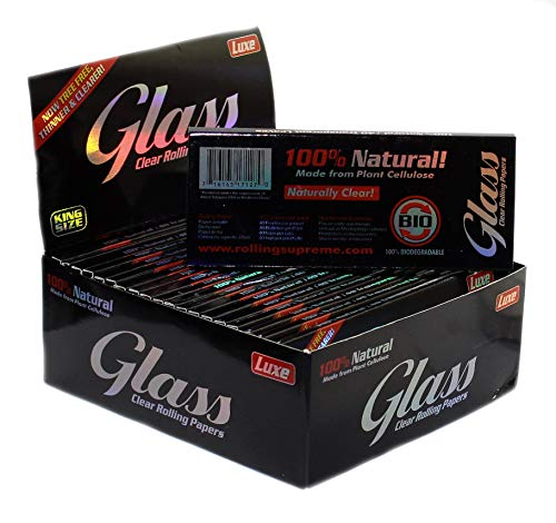 aquasensishop Glass Papers King Size, transparent Papers 110 x 45 mm, 4 x 40 blättchen
