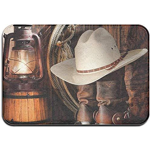 Liumt Cowboy Vloermat, antislip, binnen/buiten, deurtapijt, woonkamertapijt