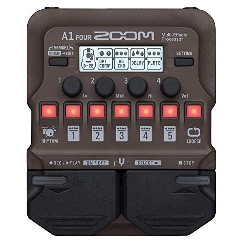 Zoom A1 FOUR, Acoustic Guitar Multi-Effects Pedal