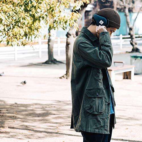 nakotaナコタふんわりボアイヤーマフ[フリーサイズ/チャコール]コンパクト耳あてイヤーウォーマーイヤマフ防寒冬暖かいメンズレディース通勤通学自転車バイク