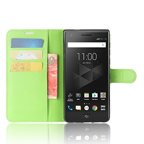 ROCKWEY Für BlackBerry Motion Cover,Mobile Phone Flip Wallet Leather Hülle Flip Hülle Für BlackBerry Motion-grün