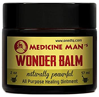 Medicine Man's Wonder Balm - All Purpose Healing Ointment 2 oz - Natural Formula for Itchy Scaly or Cracked Skin - Good as Fungus Infection Treatment Skin Rash Cream Psoriasis Athletes Foot Care