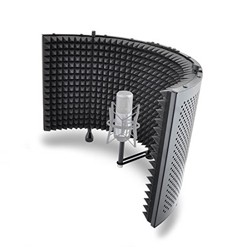 Studio Microphone Foam Shield Soundproofing Acoustic Panel Soundproof Filter   Sound Diffusion Mic Booth Shield   Insulation Diffuser Noise Deadening Absorbing for Audio Music Recording By Pyle (PSMRS11)