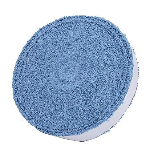 RiToEasysports Sobregrips de Tenis, bádminton Raqueta de Tenis Raqueta Agarre de Toalla Sobregrip Banda para el Sudor Cinta Envuelve Cinta Antideslizante para el Sudor Absorbe el Sudor(Azul)