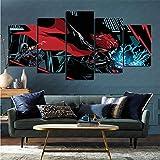 mmkow Flat Artist Canvas 5 Piezas Set Comic Batgirl Home Art para decoración del hogar 100x200cm (Marco)