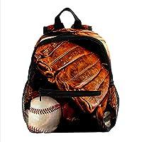 ガールズボーイズブックバッグ用バックパック多目的デイパックアウトドアトラベルバッグ野球の手袋 サイズポケット付き
