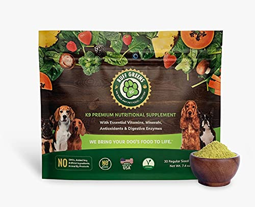 Ruff Greens K9 VitaSmart Vitamin & Mineral Supplement Nutritional Support for Dogs  7.4 Ounce