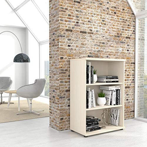 Profi Bücherragel 3OH Regal Standregal Holzregal Wandregal Schrank Büro Ahorn