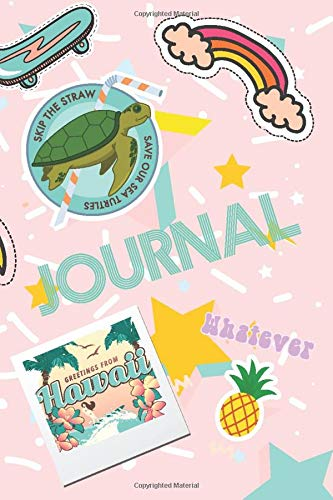 Journal: VSCO Girl Lined Notebook & Diary For Writing Your Thoughts & Dreams | Pastel Pink Aesthetic Featuring Turtle, Skateboard, Surfboard, Good Vibes, Pineapple, Rainbow & Hawaii