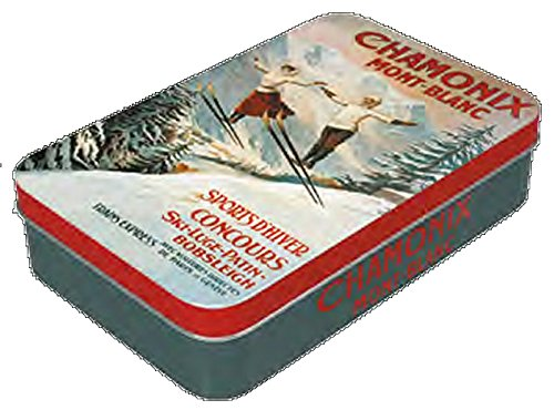 Boite A Savon Metal PUB Retro Chamonix SAUTEURS Mont Blanc Sports d'hiver