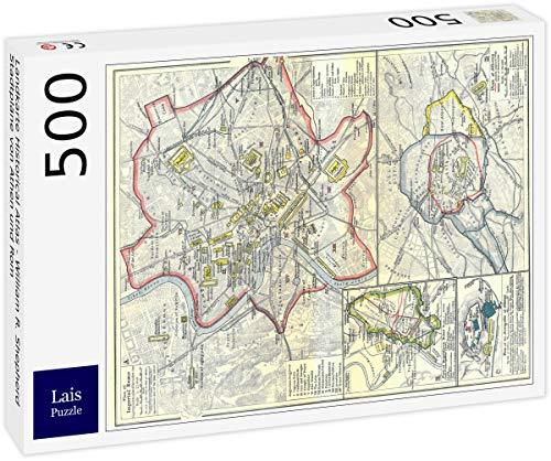 Lais Puzzle Landkarte Historical Atlas - William R. Shepherd Stadtpläne von Athen und Rom 500 Teile