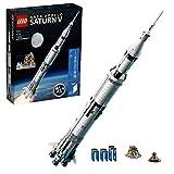 LEGO92176IdeasNASAApolloSaturnVSpaceRocketandVehicles,SpaceshipCollectorsBuildingSetwithDisplayStand