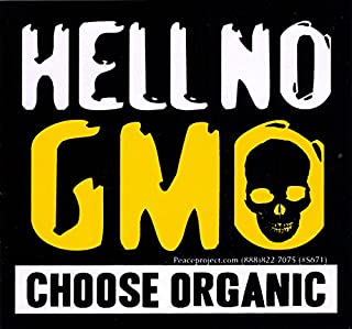 Peace Resource Project Hell No GMO - Choose Organic - Bumper Sticker/Decal (4