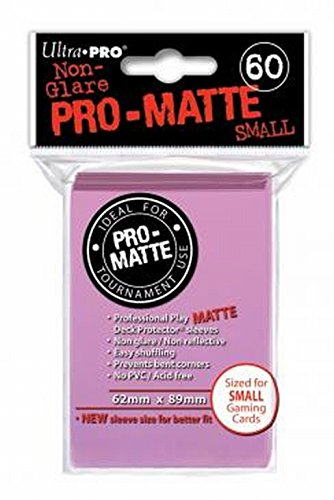 Ultra Pro Pro-Matte Deck Protector for Small Size Cards - Pink (60 ct.)