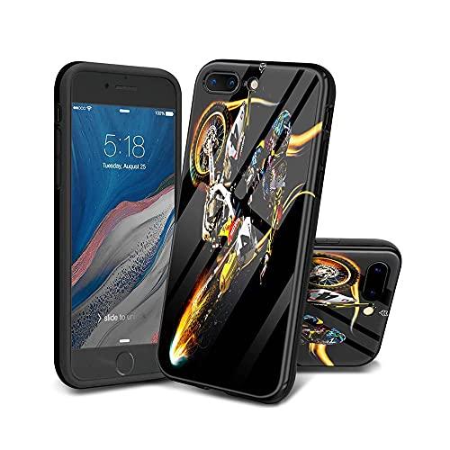 HUHFVUY iPhone 7 Plus Funda, iPhone 8 Plus Funda, patrón de diseño Suave IMD Design Series a Prueba de Golpes Flexible Delgado TPU para iPhone 7 Plus/iPhone 8 Plus D009