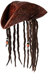 This faux-leather hat has realistic-looking braids on both sides of the head Lightweight yet durable materials Comfortable to wear