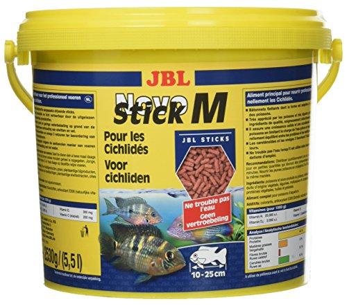 JBL NovoStick M 30291 Alleinfutter für fleischfressende Buntbarsche, Sticks 5,5 l