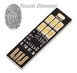 UEB Tarjeta de bolsillo Bombilla de la lampara 6led Llavero Mini LED luz de la noche USB Portátil