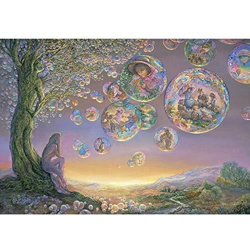 artaslf Pintura con diamantes Pintura Punto de cruz Mundo de dibujos animados Paisaje del bosque Kit de mosaico de cristal DIY Bordado de diamantes Decoración para el hogar - 40x50cm sin marco