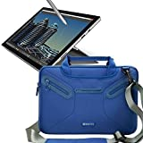 Evecase Fully Padded Multi-Functional Carrying Messenger Bag with Handle and Shoulder Strap for Microsoft New Surface Pro 2017 / Surface Pro 4 / Surface Pro 3 - Blue