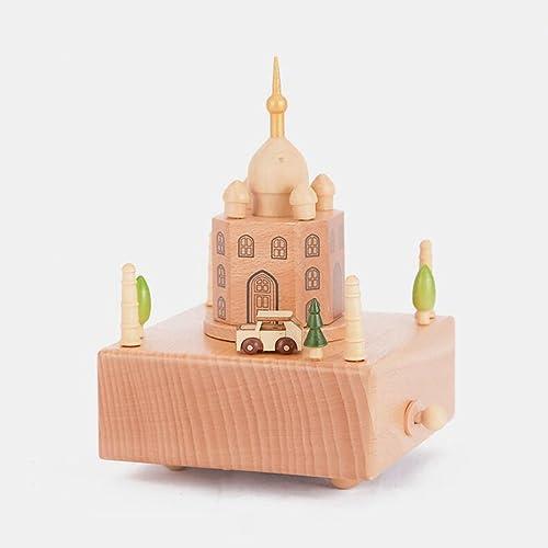 tiempo libre QZ HOME Madera Caja De Música Creatividad Retro Retro Retro Regalo De Cumpleaños Regalo del Día De Los Niños Un Tipo De Música Taj Mahal (Color   Spirited Away)  varios tamaños