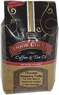Door County Coffee, Chocolate Raspberry Truffle, Wholebean, 5lb Bag