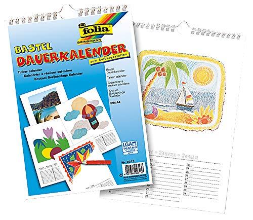 Calendrier vierge à dessiner, décorer, peindre, bricoler - A4, 21x29,7cm