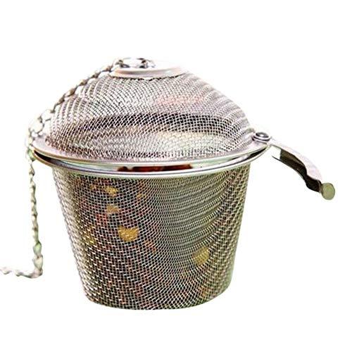 JYSLI Monto Sabor Sopa de Acero Inoxidable de la Especia Caja de la Cesta de salmuera Caliente Pot escoria Separación Colador Coladores de Herramientas de Cocina Detenido (Color : S)