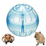 zfdg Bola para Hámster, Bola de Ejercicio para Hámster, Bola de Ejercicio Pequeña Hámster, Pelota Ejercicios para Hámster, para Totoro Mouse Squirrel Small Animal Pet Sports Training Toy (Azul)