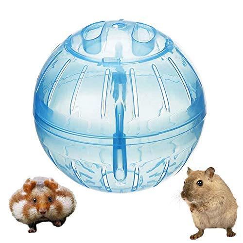 zfdg Hamster Übungs Ball, Hamsterball, Hamster Sportball, Hamster Gymnastikball, Hamster Laufball, für Totoro Mouse Eichhörnchen Kleintier Haustier Sporttrainingsspielzeug (Blau)