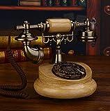 SXRDZ Teléfono Retro Teléfono Retro Teléfono Antiguo Teléfono Vintage Wire Teléfono Salón Café Decoración de café-18x25x21cm (7x10x8inch) Home Desk Decor Ornament