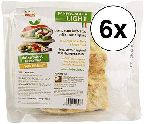 6 conf PANFOCACCIA LIGHT 120G Rima Benessere